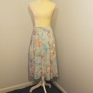 Alfred Dunner floral flowy skirt sz XL NWT